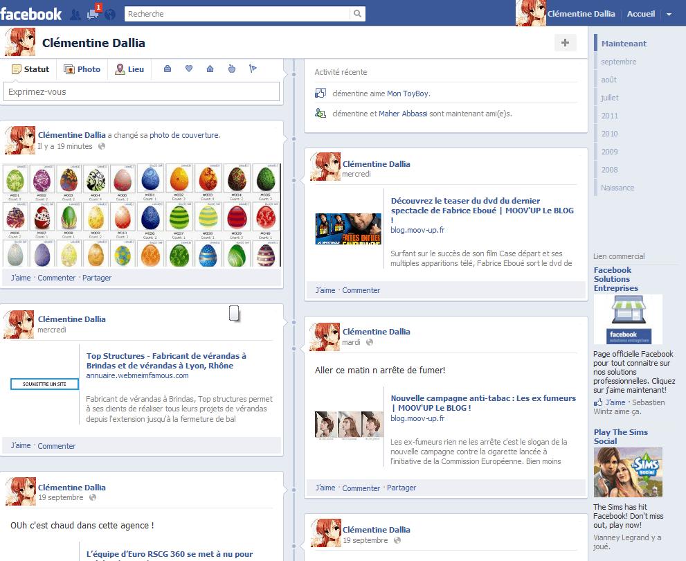 timeline facebook journal