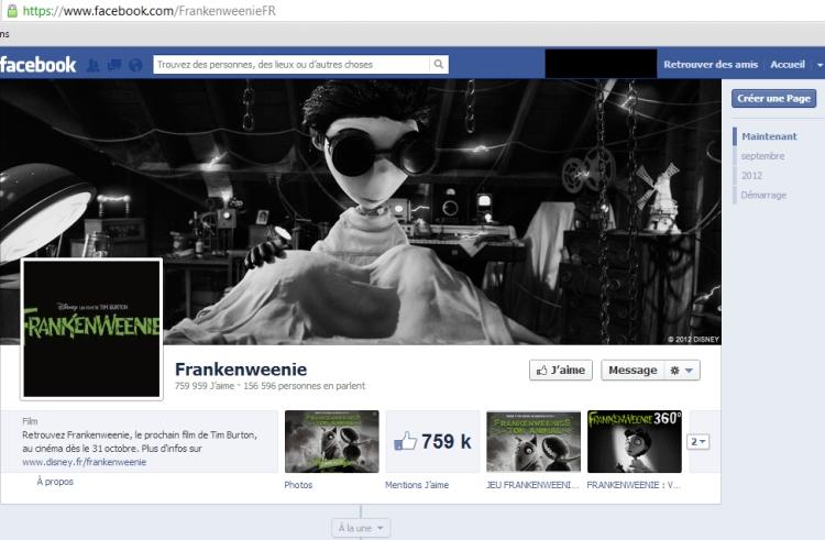 page frankenwinie france