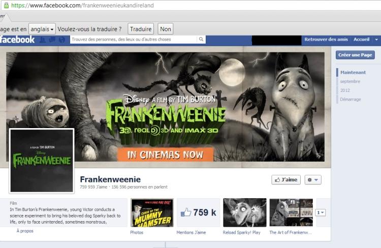 page frankenweenie uk