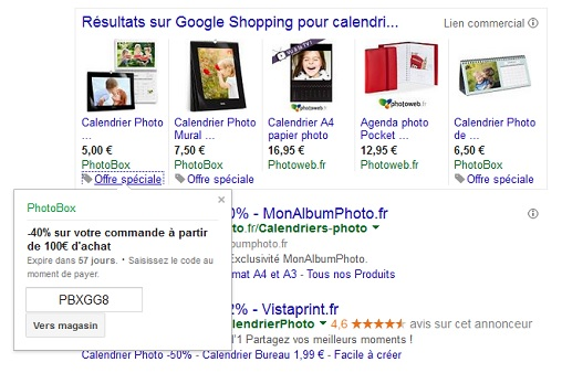 promotions google shopping