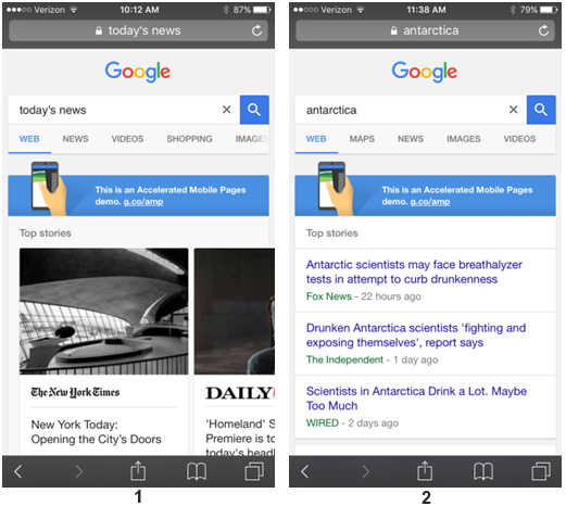 Accelarated Mobile Pages pour Google