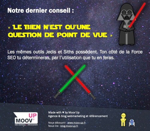 Comment devenir un Jedi SEO ? Une infographie Moov'Up