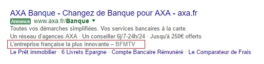 extension avis adwords